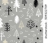 hand drawn winter pattern | Shutterstock .eps vector #509322709