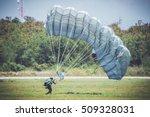 single military parachute... | Shutterstock . vector #509328031