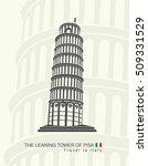 figure leaning tower of pisa in ... | Shutterstock .eps vector #509331529
