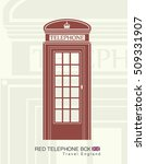 Figure Of A Red Telephone Booth ...