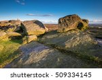 rocks on stanage edge   located ... | Shutterstock . vector #509334145