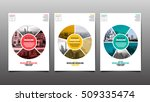 poster   flyer template  circle ... | Shutterstock .eps vector #509335474