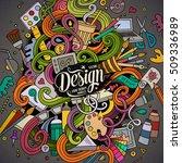 cartoon cute doodles hand drawn ... | Shutterstock .eps vector #509336989
