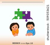 group of people icon  friends... | Shutterstock .eps vector #509353621