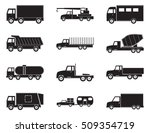 set of truck black icons.... | Shutterstock .eps vector #509354719