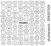 frames mega set isolated on... | Shutterstock .eps vector #509357329