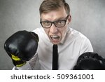 angry businessman with boxing... | Shutterstock . vector #509361001