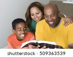 family reading together | Shutterstock . vector #509363539