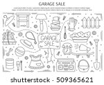 garage sale  household used... | Shutterstock .eps vector #509365621