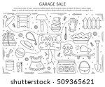 garage sale  household used... | Shutterstock .eps vector #509365621