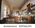 Stock photo empty cafe or bar interior daytime 509366254