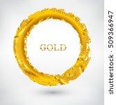 gold grunge circle.golden round ... | Shutterstock .eps vector #509366947