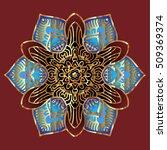 vector round abstract... | Shutterstock .eps vector #509369374