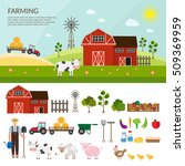 big set of vector farm elements ... | Shutterstock .eps vector #509369959