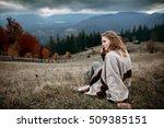 woman in boho style. hiker girl ...   Shutterstock . vector #509385151