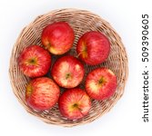 Gala Apples In Basket Isolated...