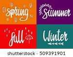 winter  spring  summer  autumn... | Shutterstock .eps vector #509391901