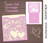 lasercut vector wedding... | Shutterstock .eps vector #509397829