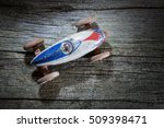 Vintage Toy Car On On Wooden...