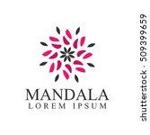 boutique logo. mandala logo.... | Shutterstock .eps vector #509399659