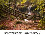 amazing waterfall in colorful... | Shutterstock . vector #509400979