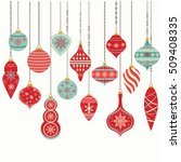 christmas ornaments christmas... | Shutterstock .eps vector #509408335