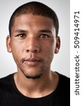 Stock photo portrait of real black african man with no expression id or passport photo full collection of 509414971