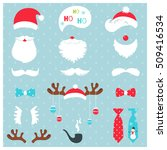 christmas santa claus and... | Shutterstock .eps vector #509416534