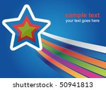 abstract star background | Shutterstock .eps vector #50941813