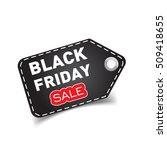 black friday sales tag.... | Shutterstock .eps vector #509418655