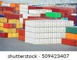 port cargo container in port of ... | Shutterstock . vector #509423407