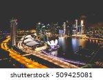 Singapore City Skyline At Night ...