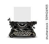Vintage Typewriter Isolated On...