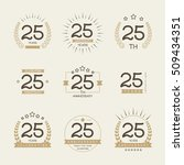 twenty five years anniversary... | Shutterstock .eps vector #509434351