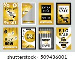 collection of sale banners ... | Shutterstock .eps vector #509436001
