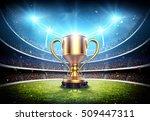 winners cup in stadium 3d... | Shutterstock . vector #509447311