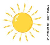 doodle sun drawing icon. vector ... | Shutterstock .eps vector #509450821