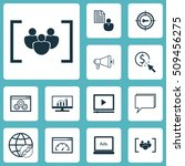 set of advertising icons on... | Shutterstock .eps vector #509456275