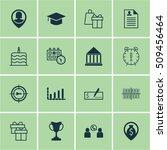 set of 16 universal editable... | Shutterstock .eps vector #509456464