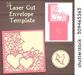 lasercut vector wedding... | Shutterstock .eps vector #509465365