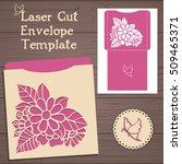 lasercut vector wedding... | Shutterstock .eps vector #509465371