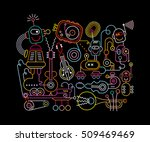 neon colors on a black... | Shutterstock .eps vector #509469469