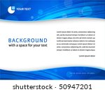Elegant blue business background with header, footer and a space for your text - in letter format - stock vector