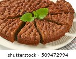close up of sliced chocolate...   Shutterstock . vector #509472994