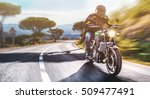 motorbike on the road riding.... | Shutterstock . vector #509477491