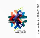 vector christmas sale stickers... | Shutterstock .eps vector #509481505