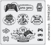 video game club emblems  labels ... | Shutterstock .eps vector #509481667