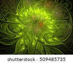 Abstract Green Fractal Compute...