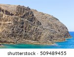 volcanic formations on... | Shutterstock . vector #509489455