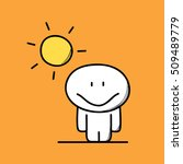cute funny man with smile on...   Shutterstock .eps vector #509489779